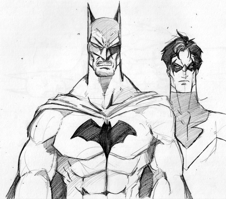 776x682 Batman And Nightwing By Themonkeyyouwant