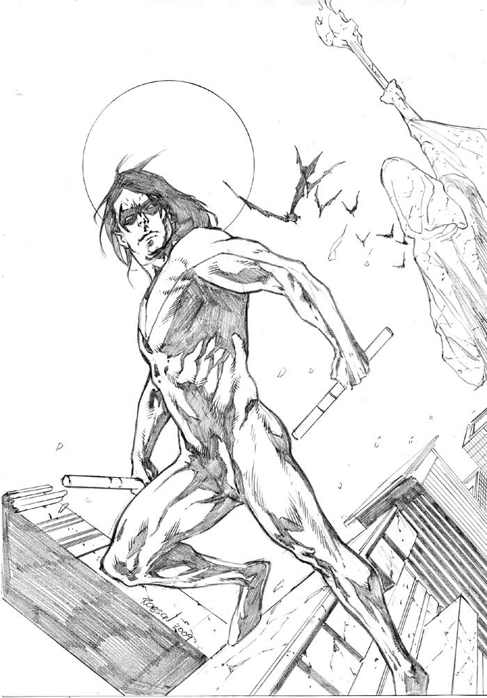 700x1002 Nightwing Sketch By Robsonrocha