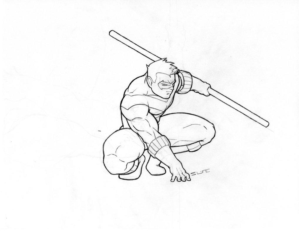 1017x786 Nightwing Sketch By Jwientjes