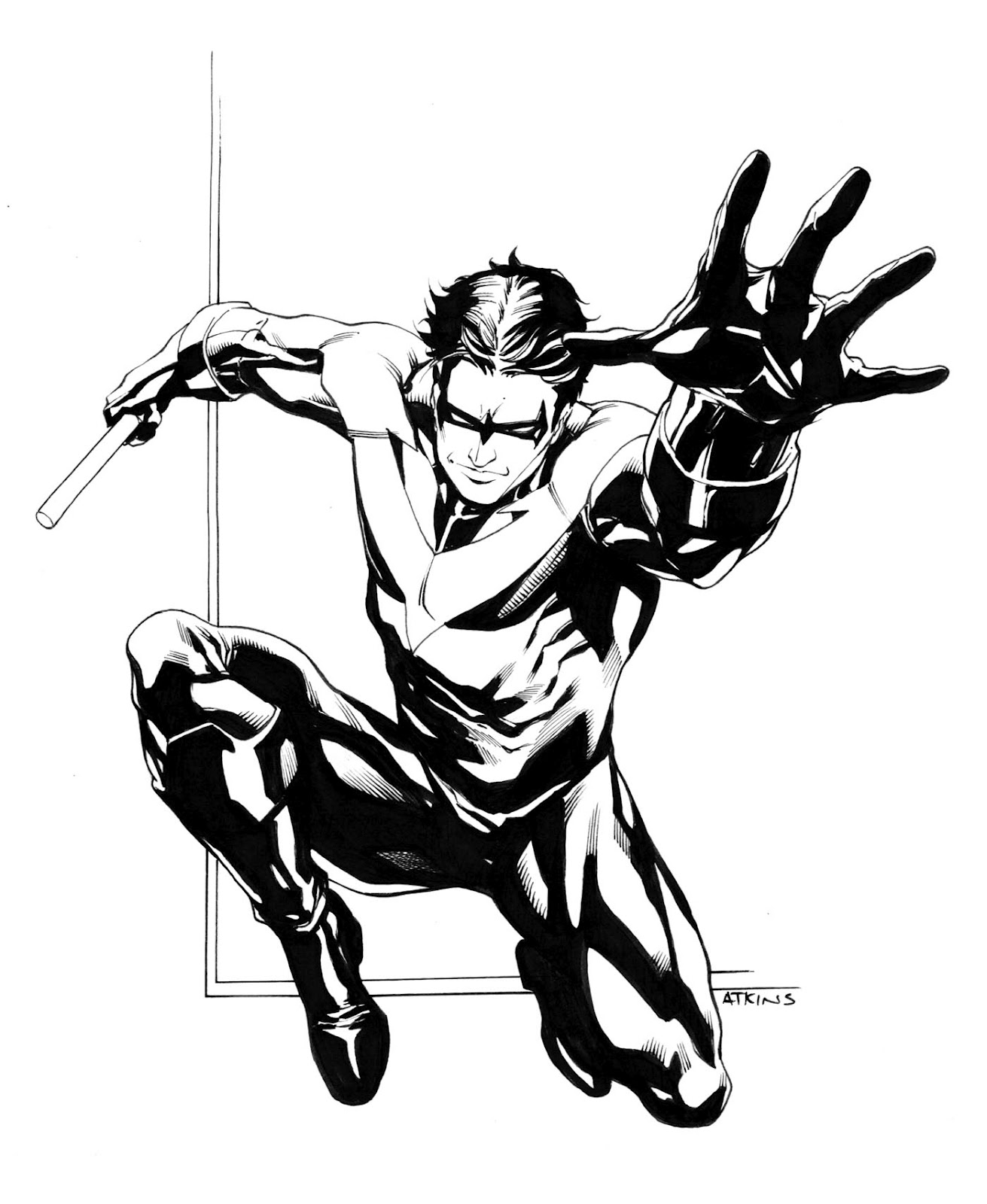 1311x1600 Nightwing . Robert Atkins Art