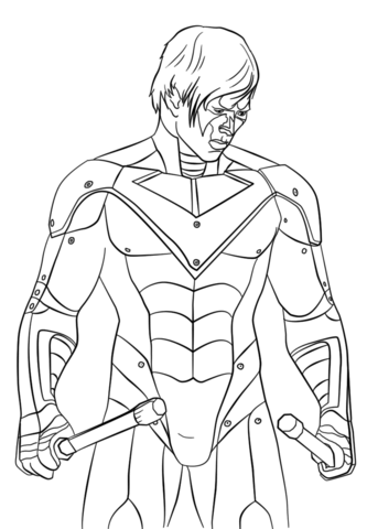 333x480 The Nightwing Coloring Page Free Printable Coloring Pages