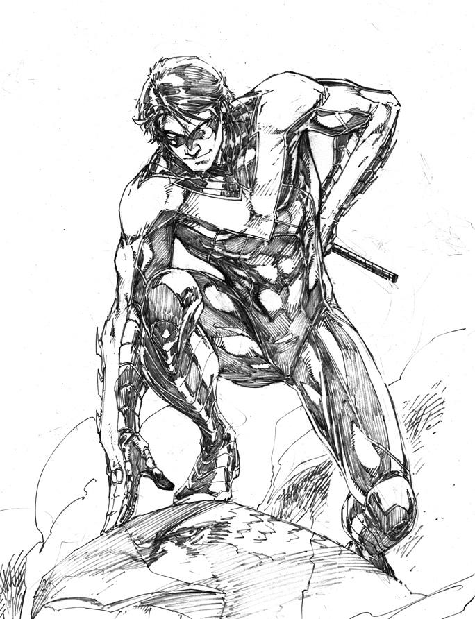 684x892 Nightwing Comic Drawings Batman Robin Batgirl Dc Comics