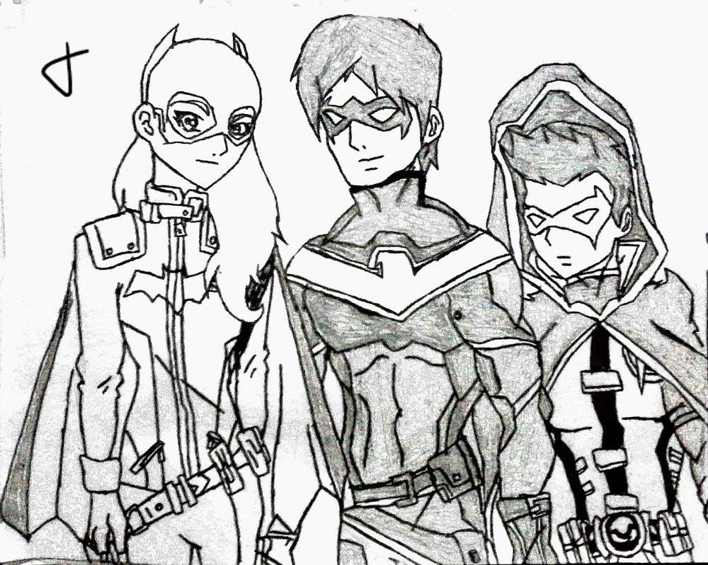 1000x798 Dc Rebirth Batgirl, Nightwing Robindamain Wayne By 13josh16