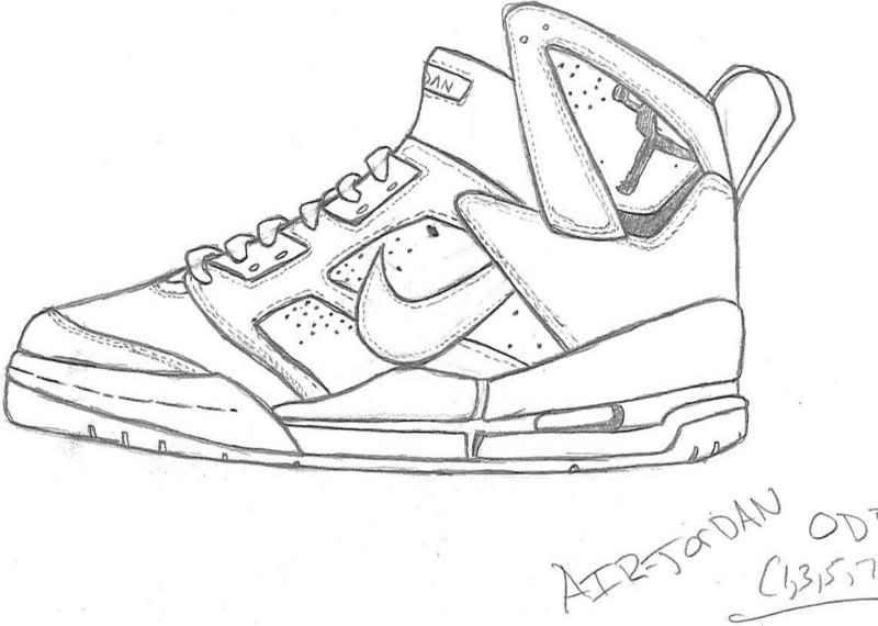 Nike Air Force 1 Drawing at GetDrawings | Free download