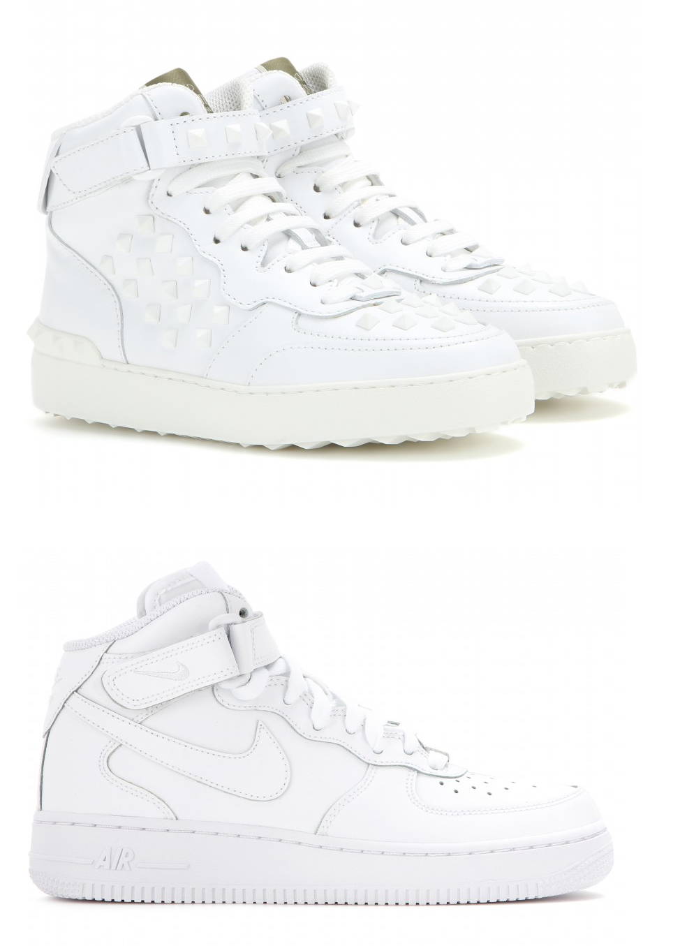 974x1355 Valentino Takes On Nike Air Force 1 High Top Sneakers