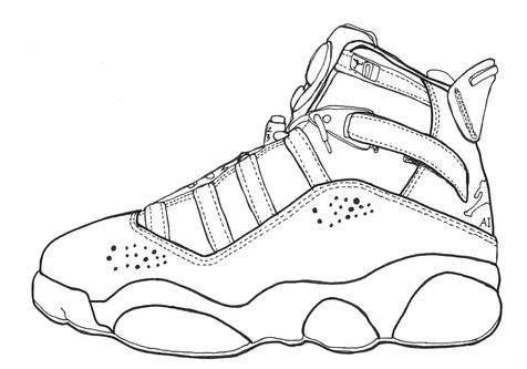 476x333 Jordan 14 Coloring Page Image Clipart Images