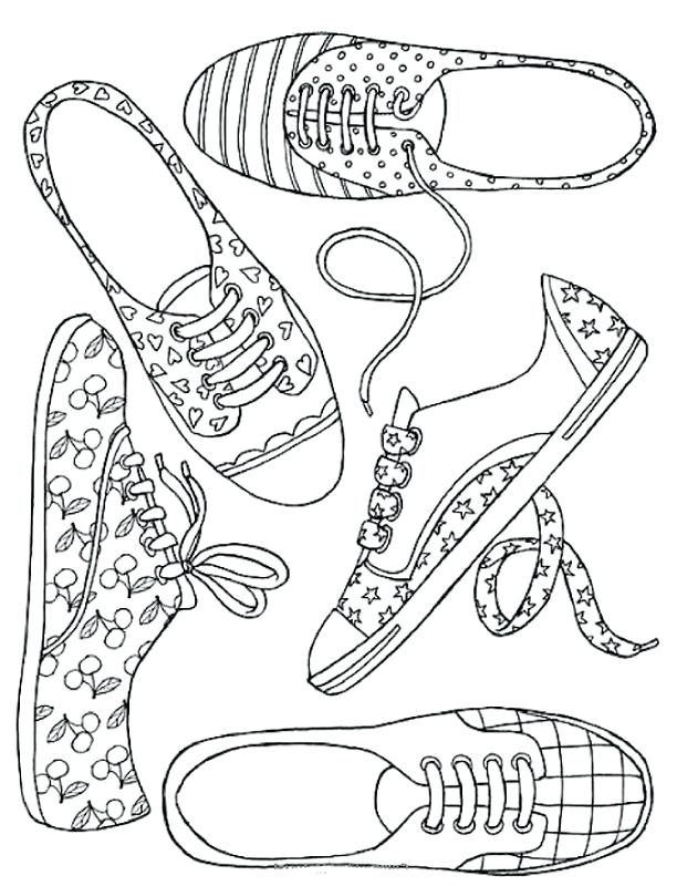 612x800 Coloring Page Shoes Coloring Page Shoes Free Coloring Pages Shoes