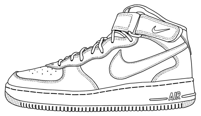 Nike Air Force High Template
