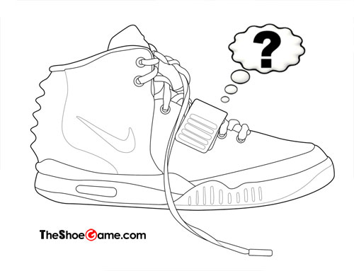 500x383 Drawn Sneakers Air Yeezy 2