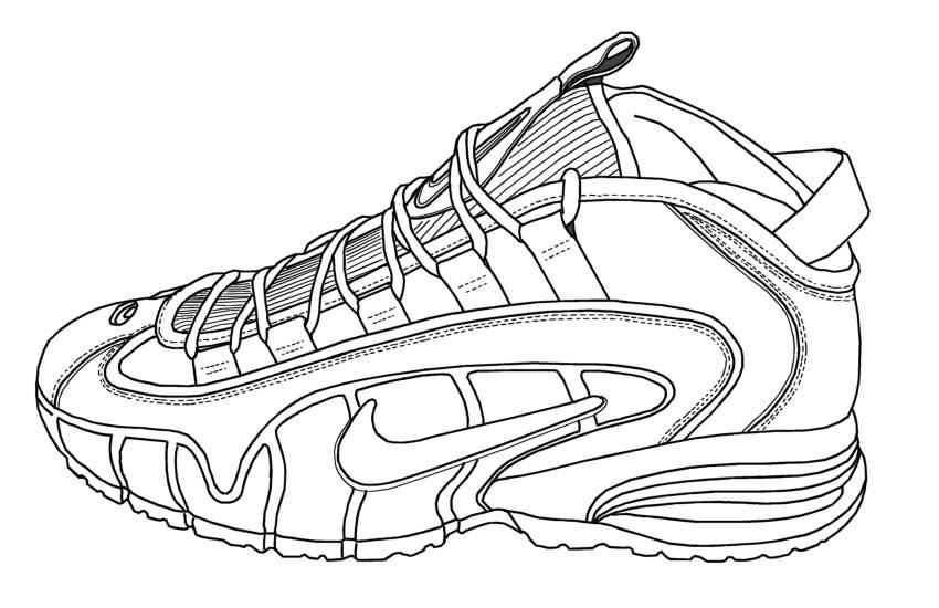 Nike Shoe Drawing at GetDrawings | Free download