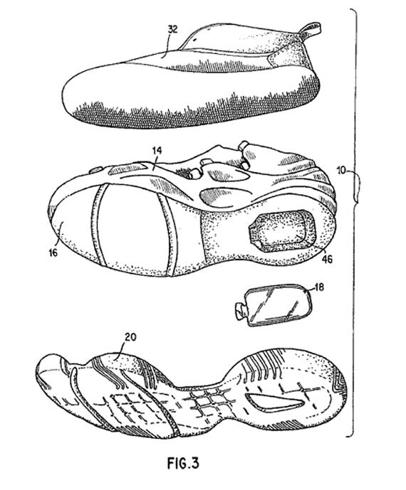 570x689 Original Nike Air Foamposite One Patent Drawings