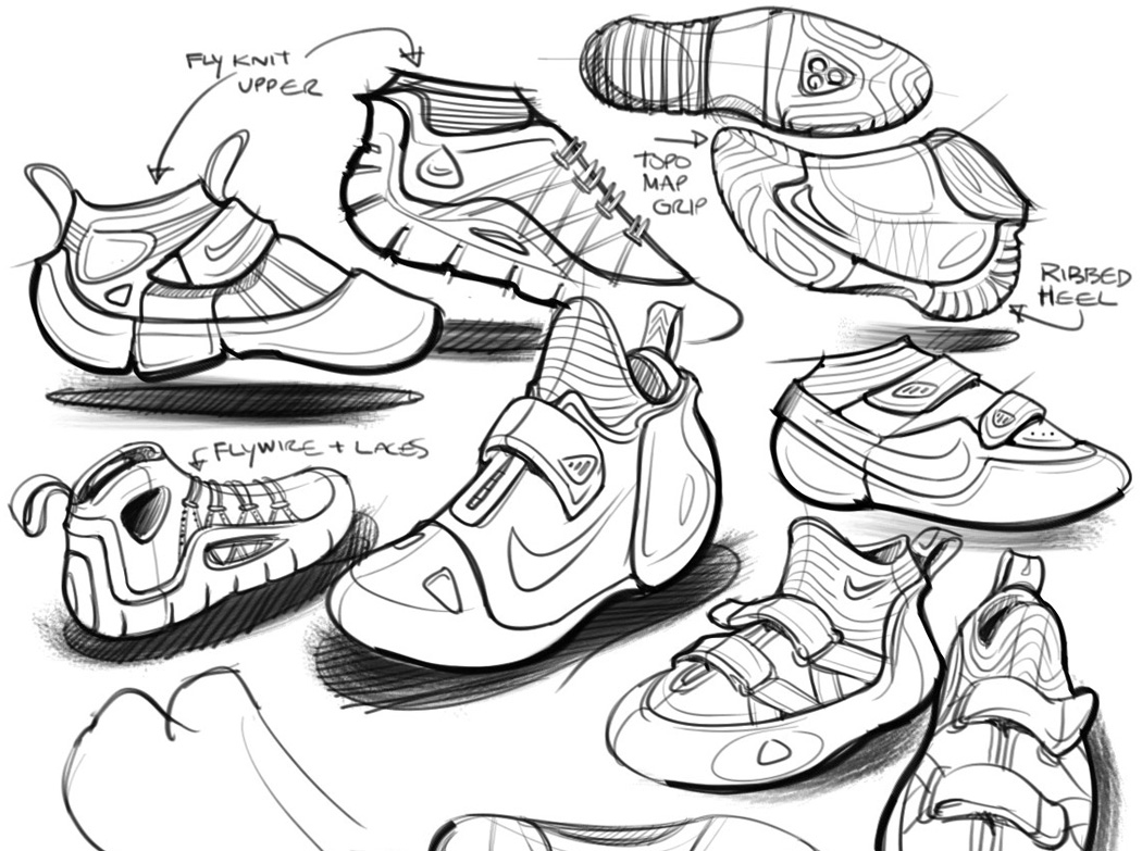 Nike Shoe Drawing At Getdrawings Com Free For Personal