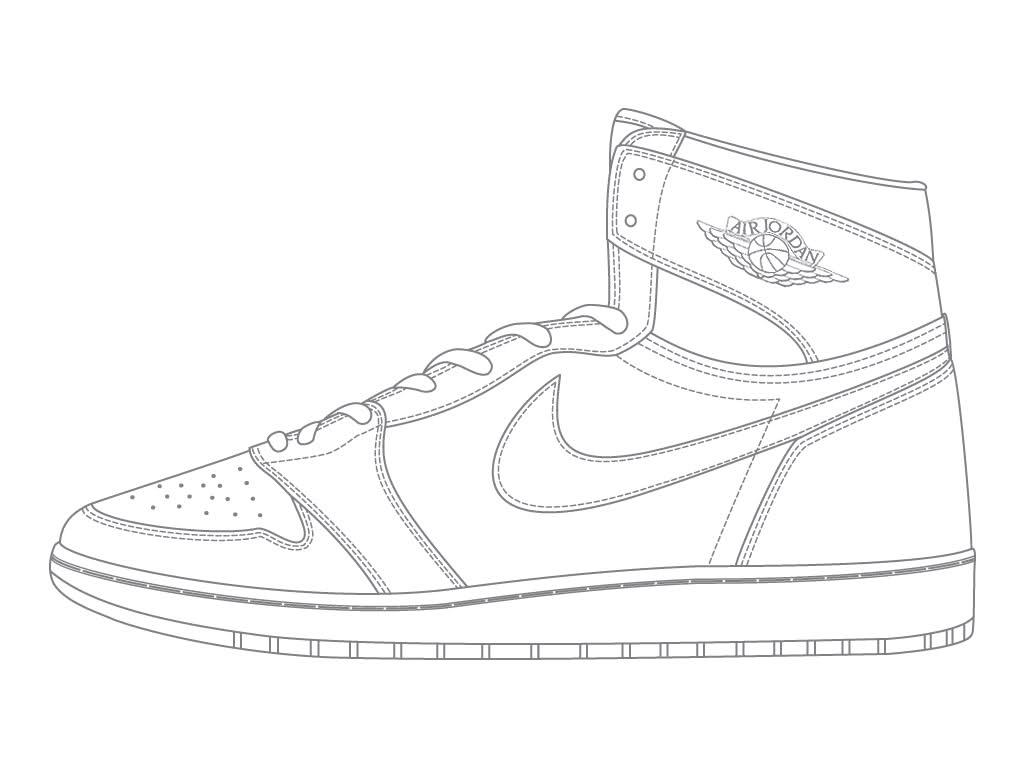 Nike Shoe Drawing at GetDrawings.com | Free for personal use Nike ...