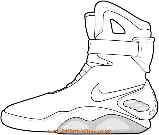 550x468 Nike Sneaker Outline Kulturevulture.co.uk
