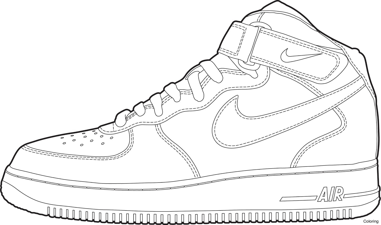 1600x946 Jordan Sneakers Coloring Page Nike Color Pages Click The 4f Shoes