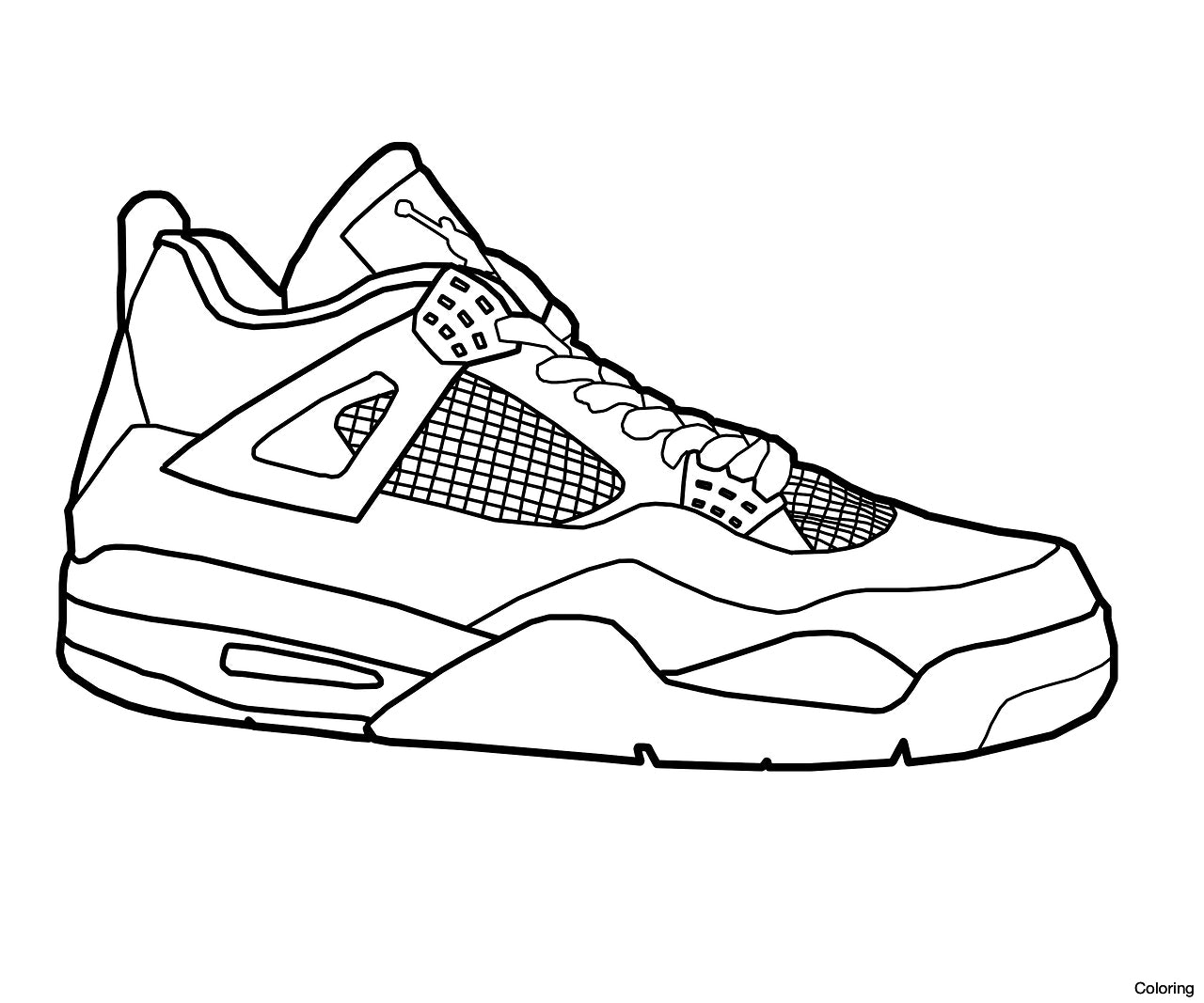 1280x1067 Jordan Sneakers Coloring Page Nike Pages Click The 1f Sneaker