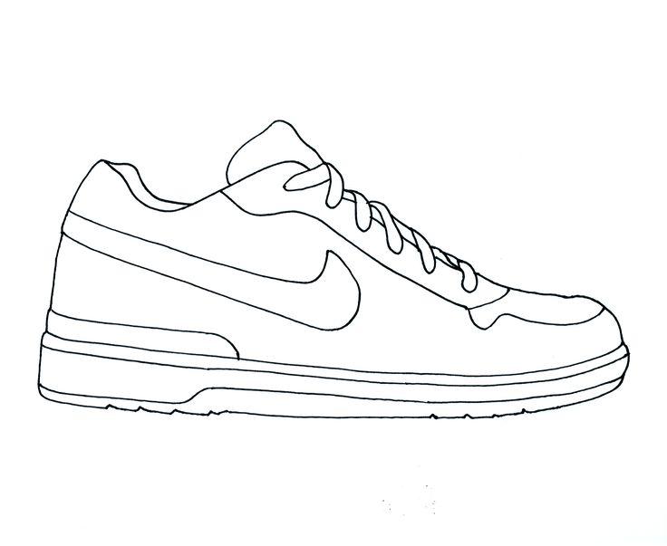 736x603 Nike Sneaker Clipart