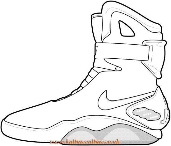 550x468 Nike Sneaker Outline Kulturevulture.co.uk