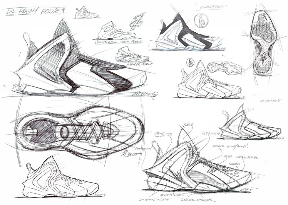 980x700 Sneaker Sketch Of The Week Marc Dolce's Nike Lil Penny Posite