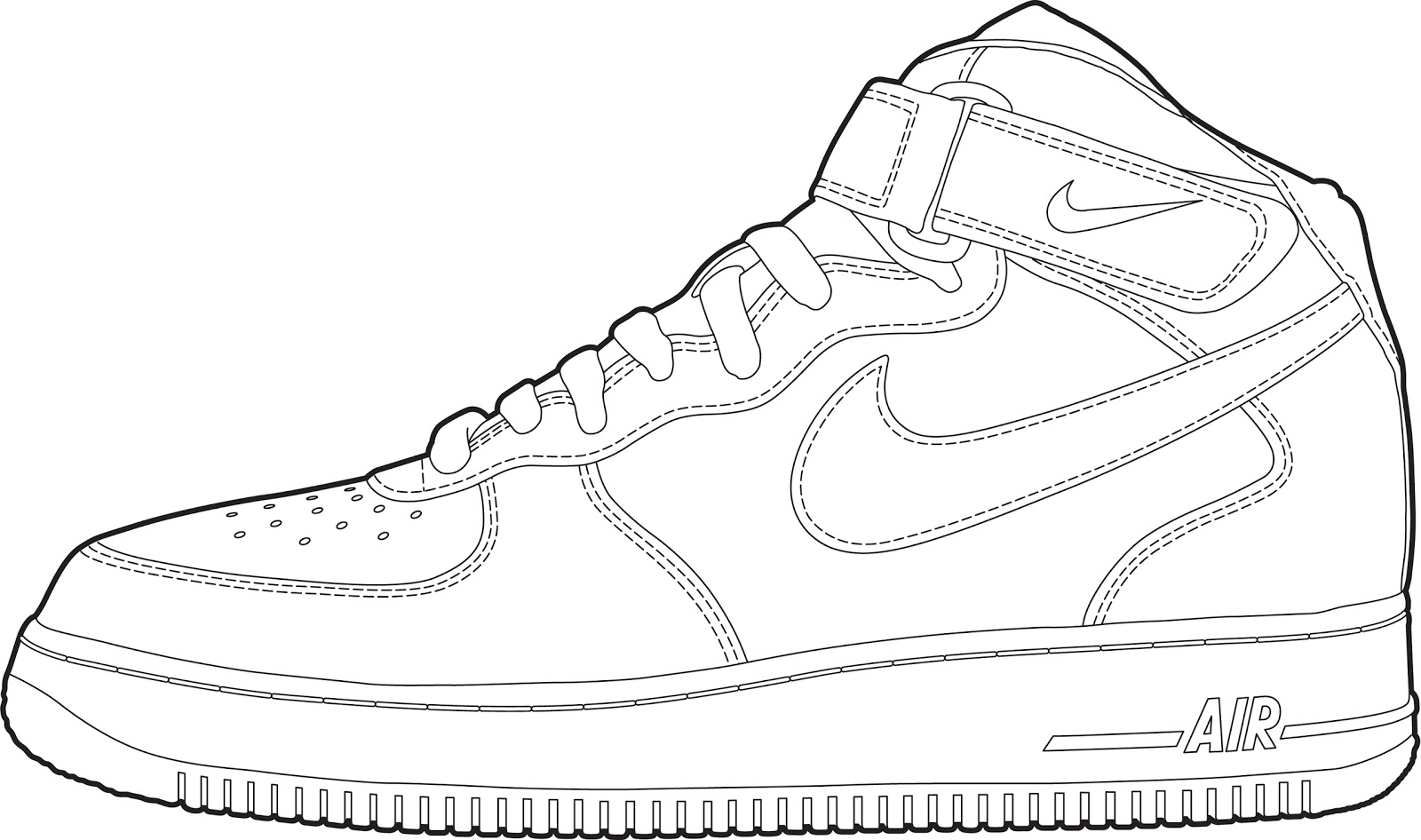 1600x946 Nike Color Pages Coloring Pages Amp Cliparts
