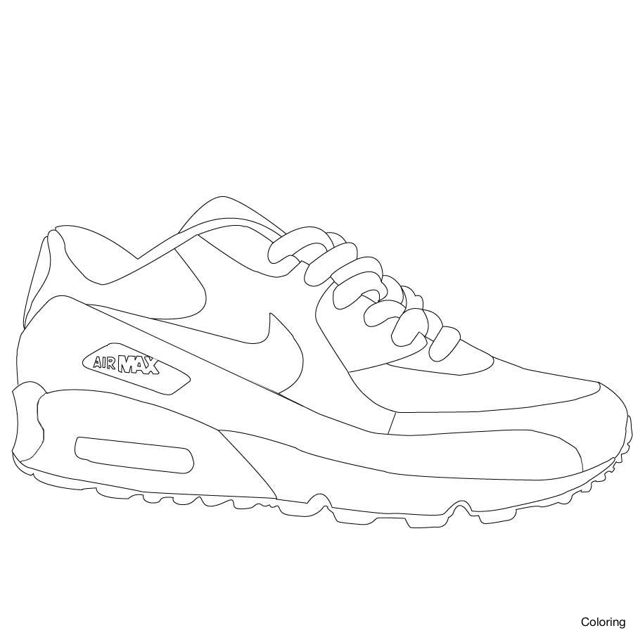 900x900 Clothes And Shoes Coloring Pages Inside Jordan In Shoe Nike 13f Sb