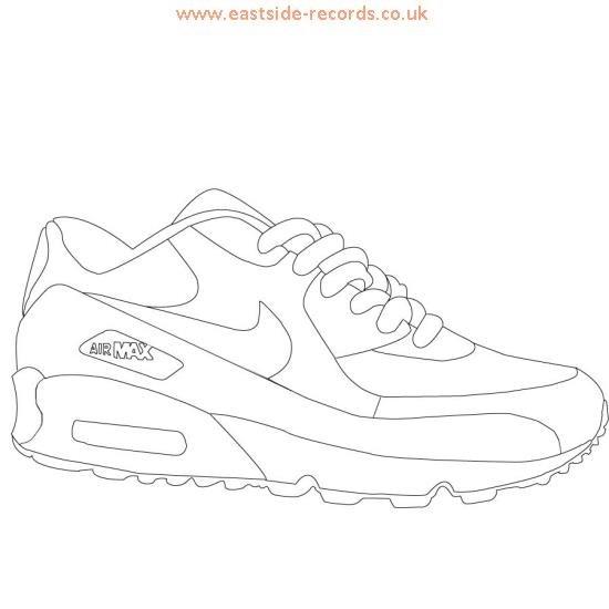 550x550 Nike Sneaker Outline Eastside Records.co.uk