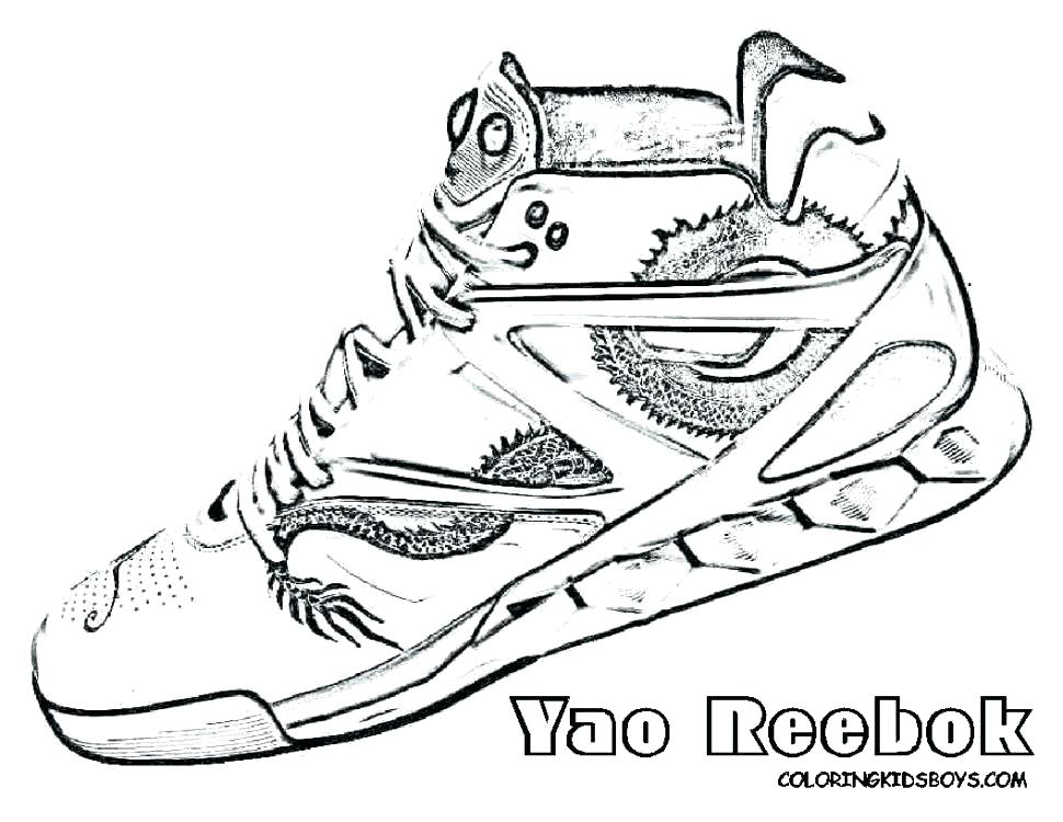 970x750 Shoes Coloring Pages
