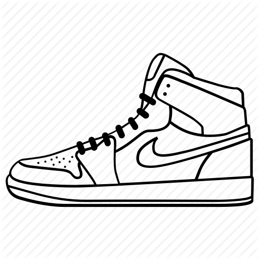 Nike Shoe Outlines
