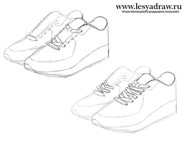 650x500 How To Draw Sneakers Nike With A Pencil Step By Step