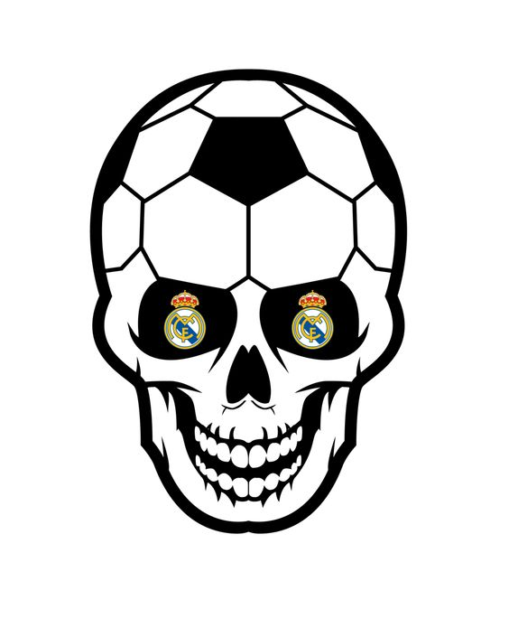 564x695 Recreated The Nike Soccer Skull With The Real Madrid Crest In Its