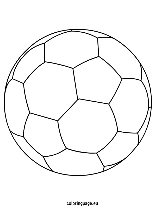 595x804 Soccer Ball Coloring Pages