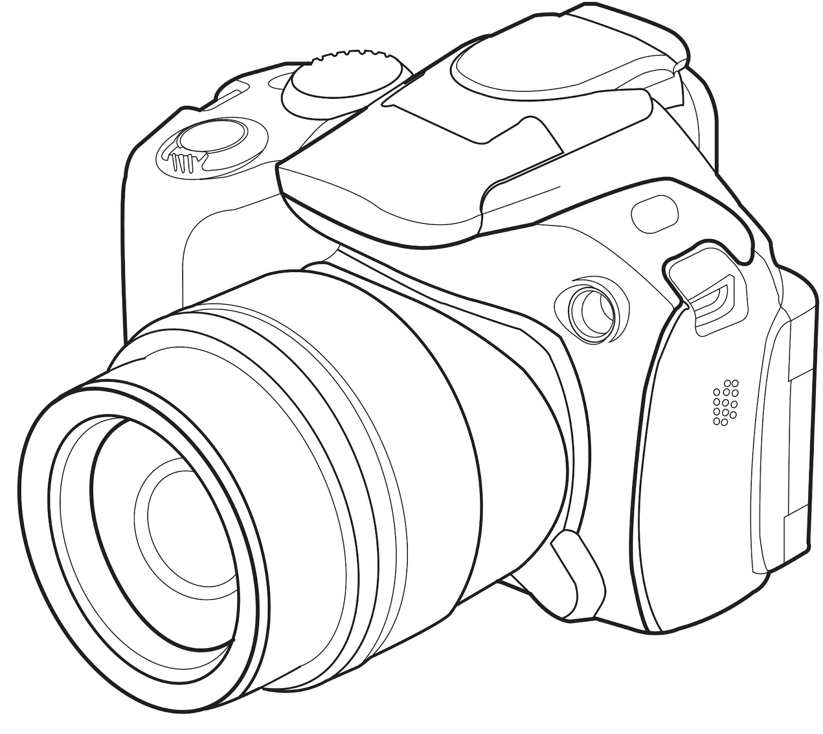 1600x1427 Image Result For Camera Lsr Line Drawing Nikon Dslr Pinterest