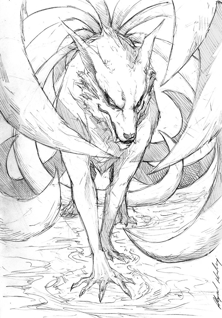 Nine Tails Drawing at GetDrawings.com | Free for personal use Nine ...