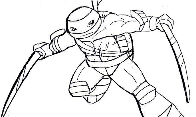 girl ninja turtles coloring pages - photo#36