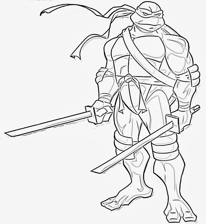 706x768 Ninja Turtles Coloring Page