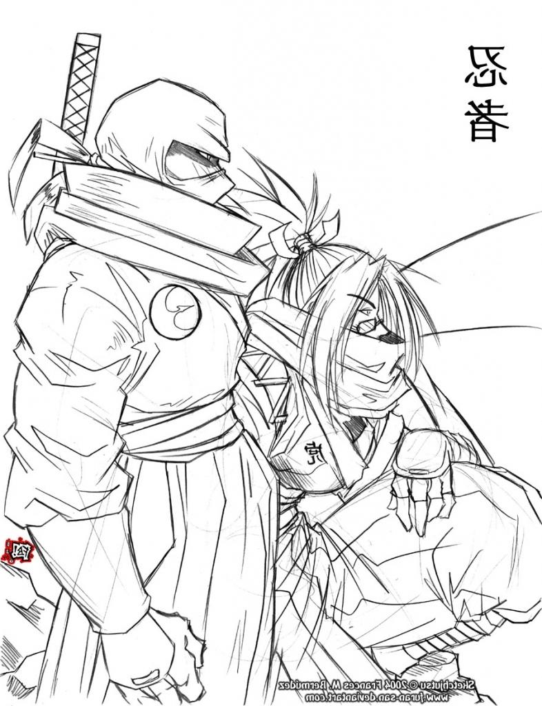 786x1024 Anime Ninja Sketches In Pencil Ninja Girl Sketching Ninja Girl