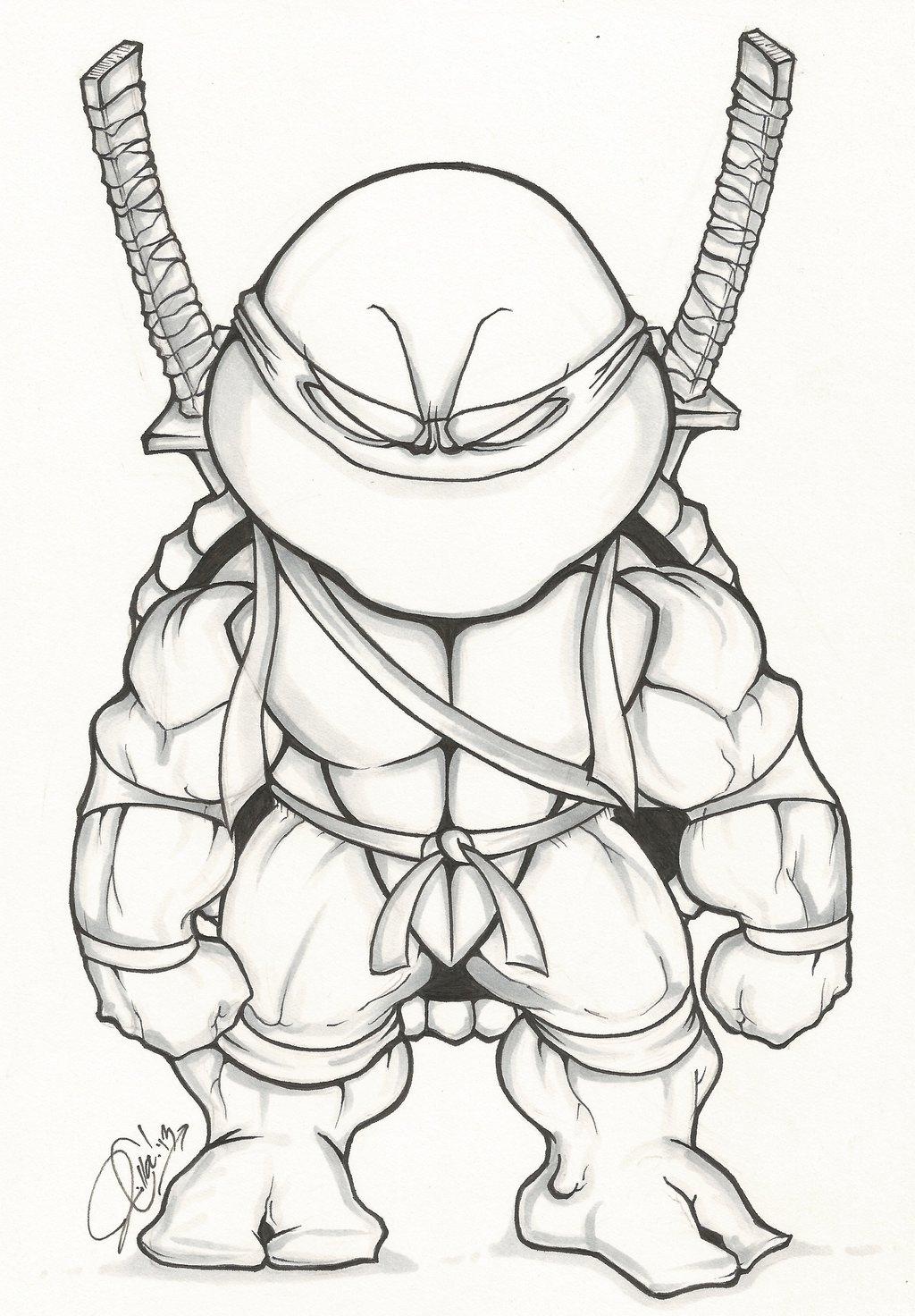 Coloring For Kids TEENAGE MUTANT NINJA TURTLES Coloring ... |Baby Ninja Turtles Drawings