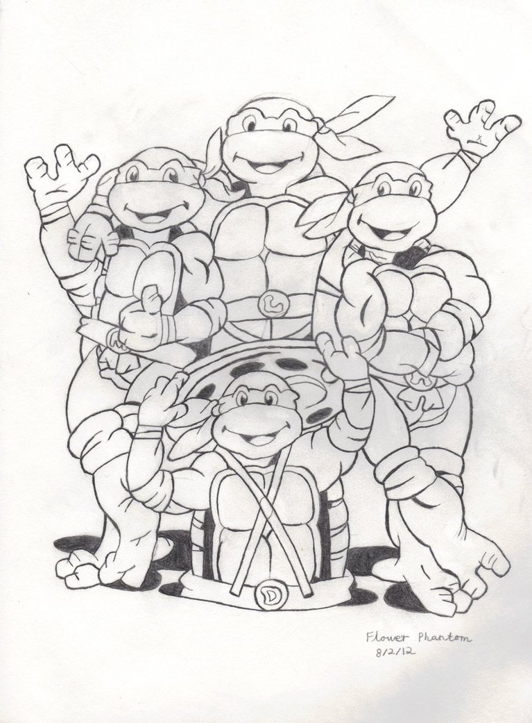 ninja turtle drawing pictures at getdrawings com free for personal