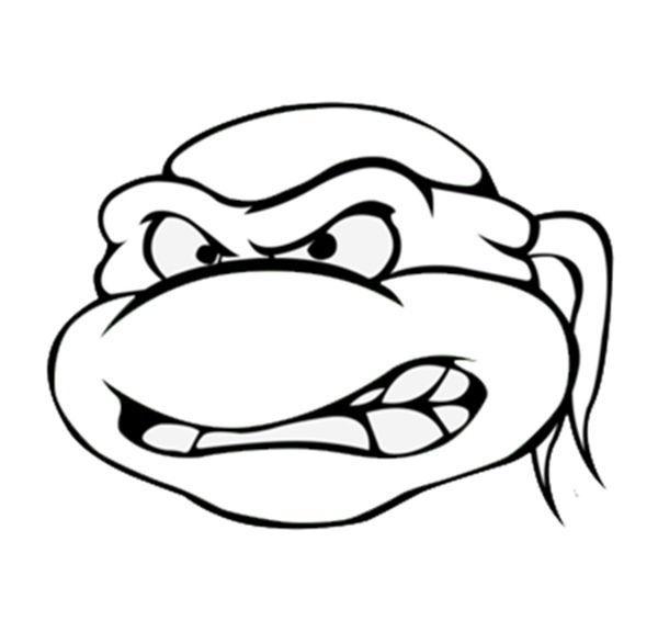 Ninja Turtle Face Drawing