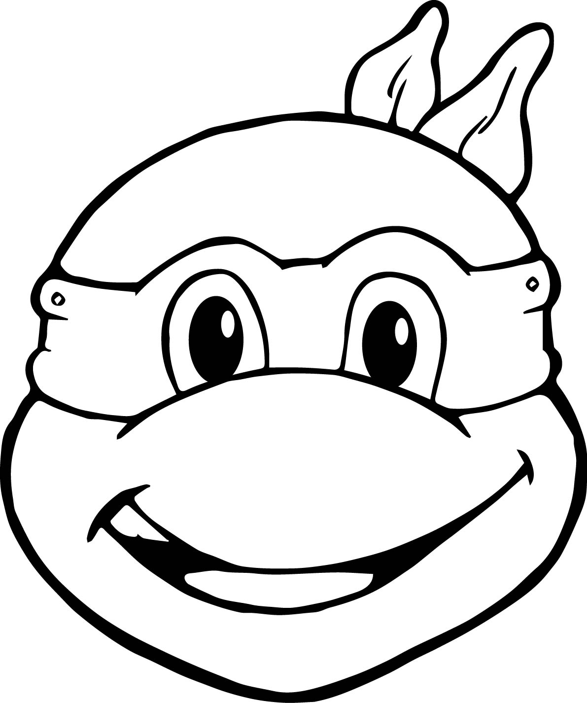 tortoise mask template - ninja turtle face drawing at free for