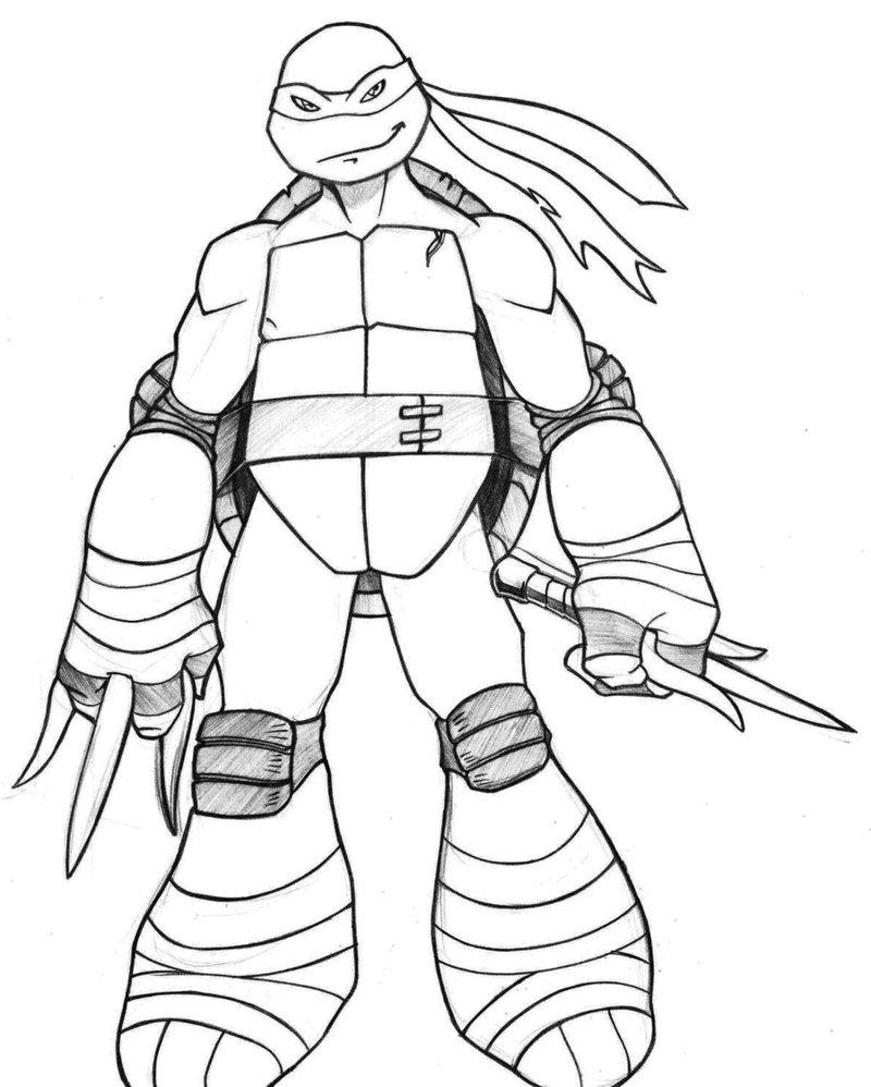 Ninja Turtle Raphael Drawing at GetDrawings.com | Free for personal ...