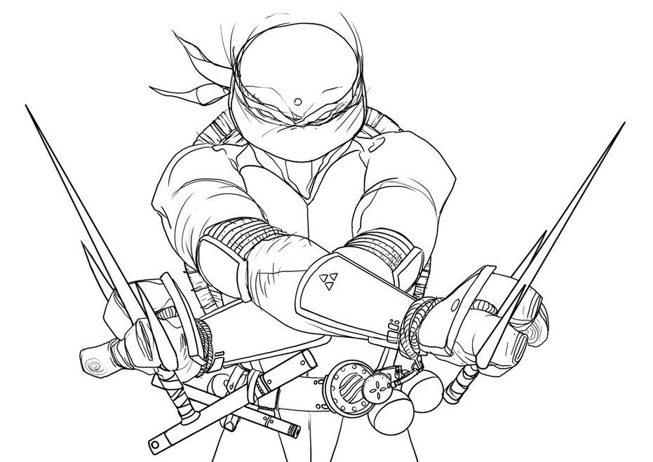 Line Art Ninja Turtles : Ninja turtle raphael drawing at getdrawings free for