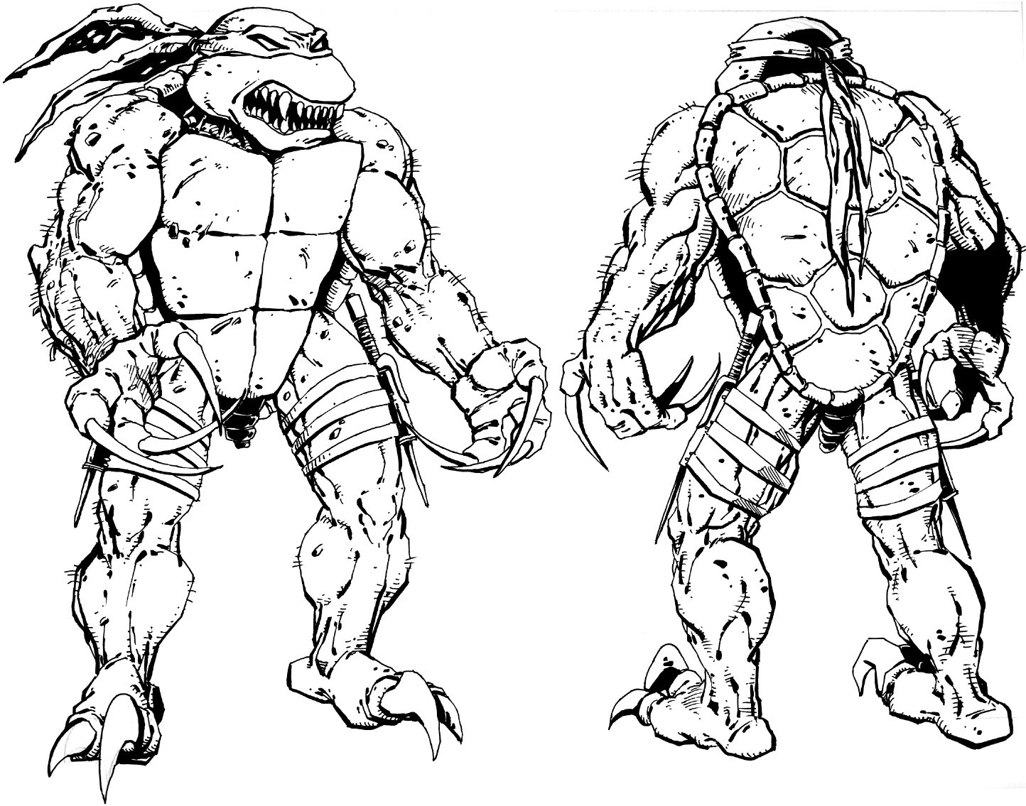 Awesome Teenage Mutant Ninja Turtle Raphael Coloring Pages Pictures ...