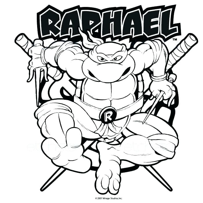 ninja turtle coloring page - ninja turtle raphael drawing at free for