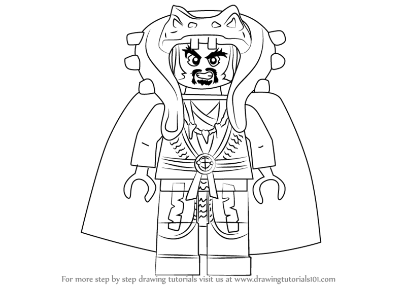 800x566 Learn How To Draw Chen From Ninjago (Ninjago) Step By Step