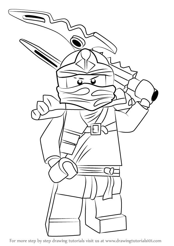 596x843 Learn How To Draw Jay From Ninjago (Ninjago) Step By Step