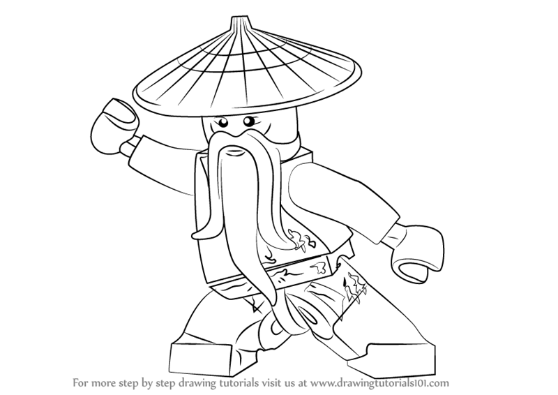 800x566 Learn How To Draw Master Wu From Ninjago (Ninjago) Step By Step