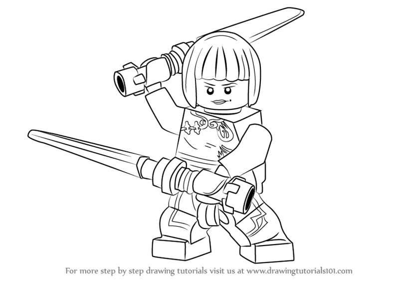 800x565 Learn How To Draw Nya From Ninjago (Ninjago) Step By Step
