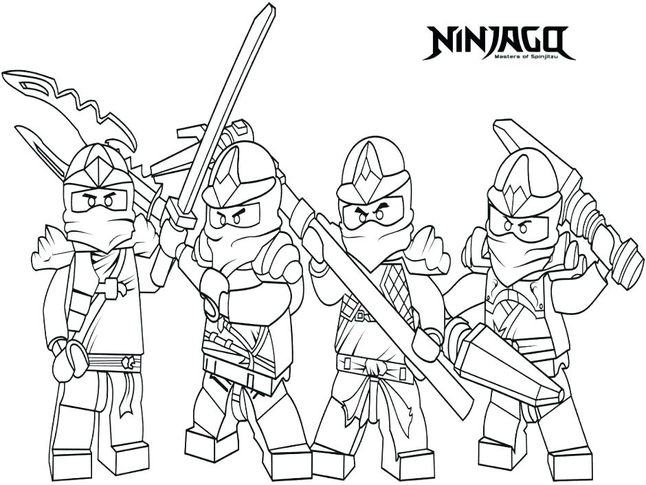 940x705 Ninjago Coloring Pages To Print Coloring Book Together