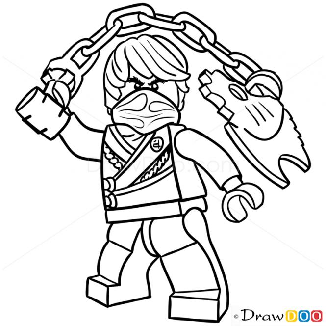 665x664 How To Draw Cole, Lego Ninjago Gama Doodles Lego